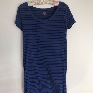 Joe Fresh Blue Striped Dress